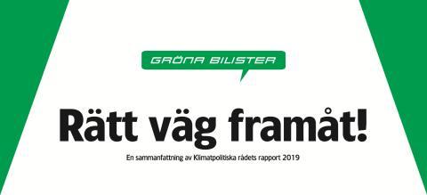 Rätt väg framåt! Gröna Bilister publicerar sammanfattning av Klimatpolitiska rådets rapport 2019