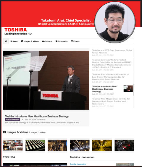 How Toshiba's newsroom is central to driving their global PR strategy