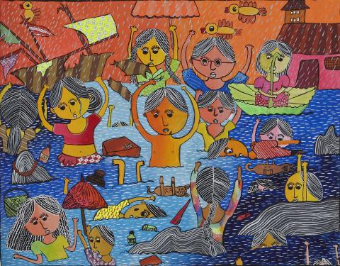 """TSUNAMI"" by R. Sayuri Vihava Rajapakhsalage, 11 years old from Sri Lanka"