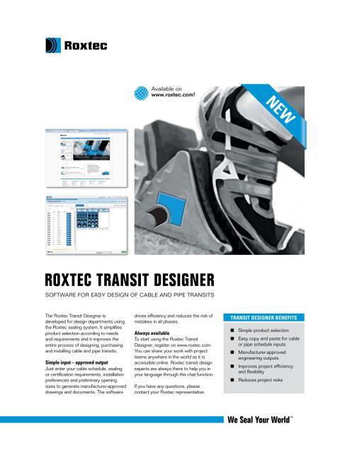 Roxtec Transit Designer
