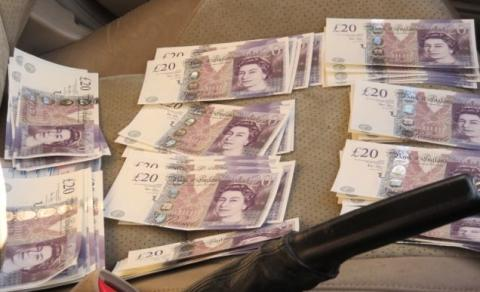 Op Handcraft seized cash in vehicle NW07/16
