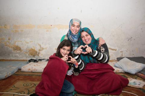 På flugt fra krigen i Syrien