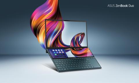 ASUS lanseeraa ZenBook Duo-kannettavan mullistavalla ScreenPad Plus -kosketusnäytöllä  Suomessa