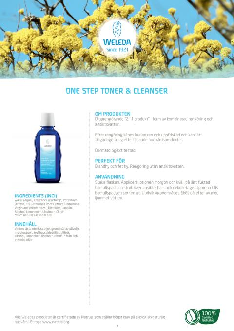One Step Toner & Cleanser