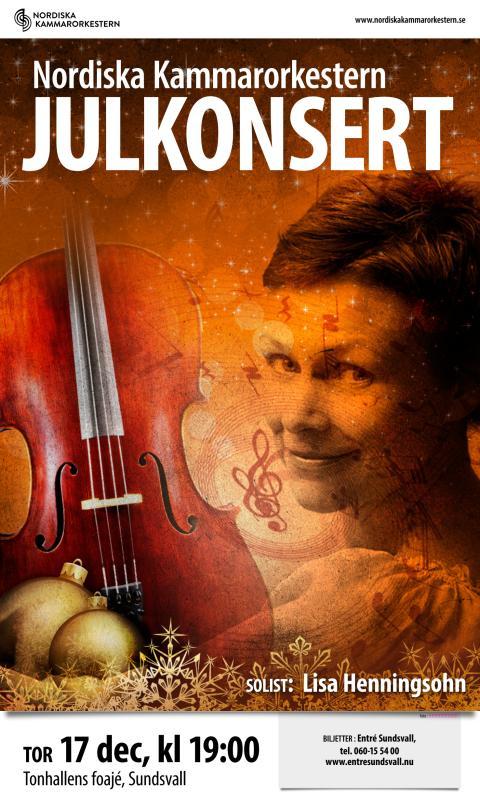 Extra julkonsert med Nordiska Kammarorkestern och sopranen Lisa Henningsohn