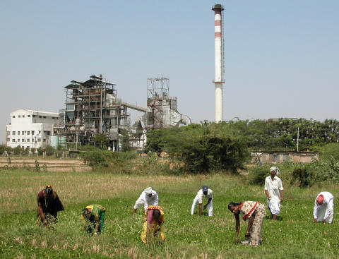 Kraftverk i Sri Balaji i Indien - använder förnybart jordbruksavfall som bränsle