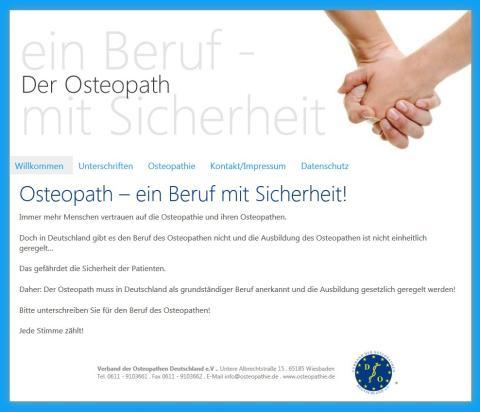 Rund 50 000 Unterschriften für den Beruf des Osteopathen