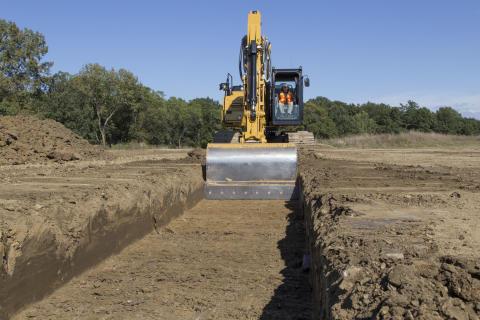 Cat 323F grävmaskin - Grade med Assist