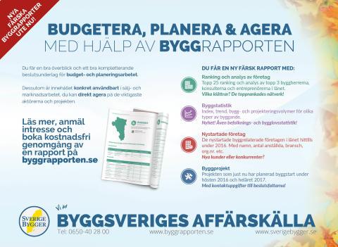 Nya färska Byggrapporter länsvis - boka kostnadsfri genomgång inför budget- och planeringsarbetet!