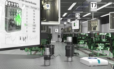 CEJNs snabbkopplingar med NFC-identifiering för motorprovning