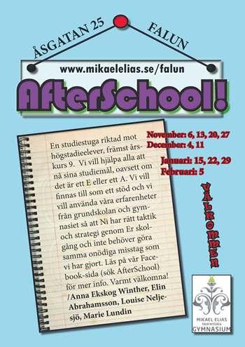 AfterSchool - en studiestuga för åk 9 med fokus på studieteknik