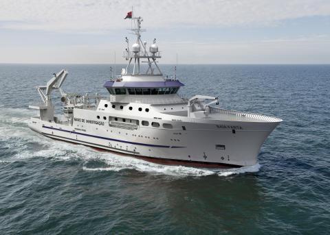 High res image - Kongsberg Maritime - Angolan FRV