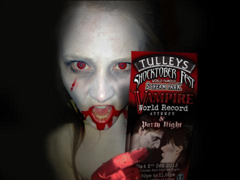 Vampire's Wanted For World Record With Bite!