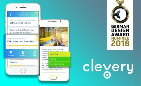 """Abitur-App """"Cornelsen Clevery"""" nominiert für den German Design Award 2018"""