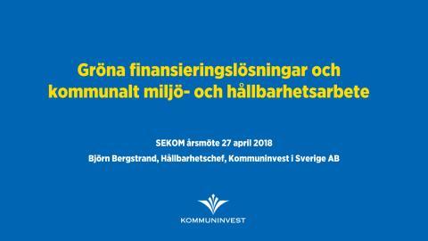Presentation SEKOM 2018-04-27
