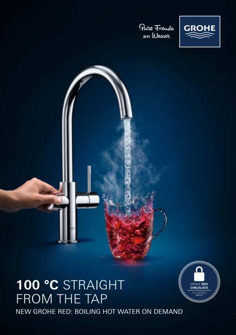 GROHE Red - kiehuvan kuumaa vettä suoraan keittiöhanasta