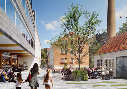 White vinner uppdraget att omvandla kulturminnesfabrik i Tyskland