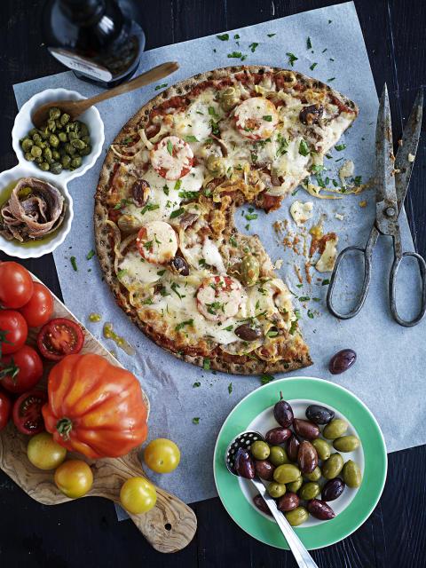 Knäckepizza - Prostens tomatsås