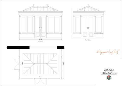 Tre nya Attefallshus i glas från Vansta Trädgård
