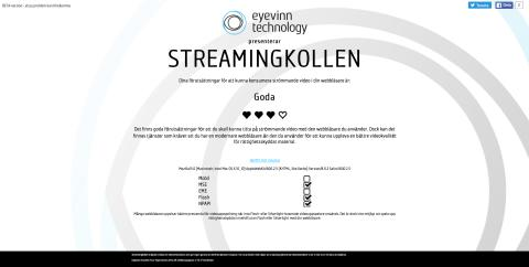 Testa din webbläsare med Streamingkollen
