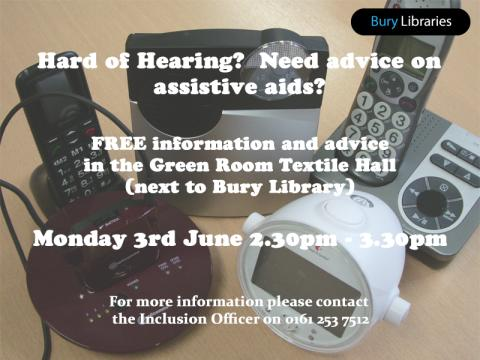 Free advice about equipment to help those hard of hearing