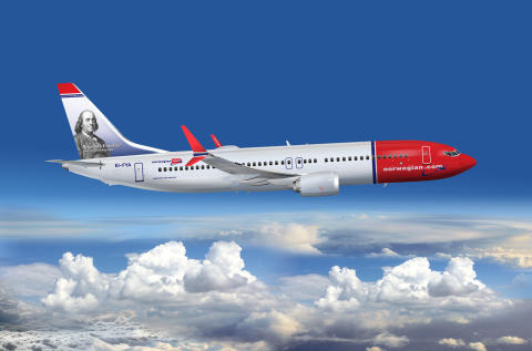 Norwegian's first US tailfin hero, Benjamin Franklin, was unveiled during July