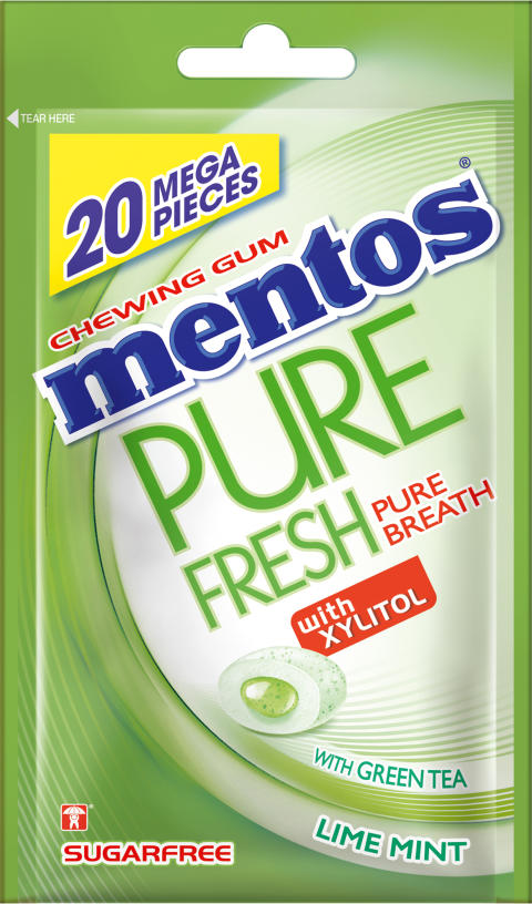 Mentos Gum pure fresh lime mint