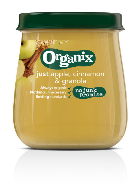 Organix just apple, cinnamon & granola