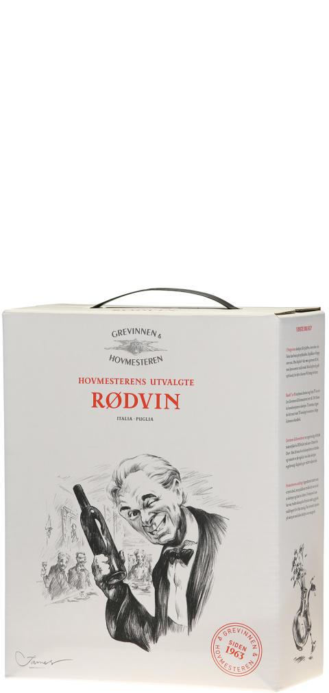 Hovmesterens utvalgte Rødvin Bag in Box