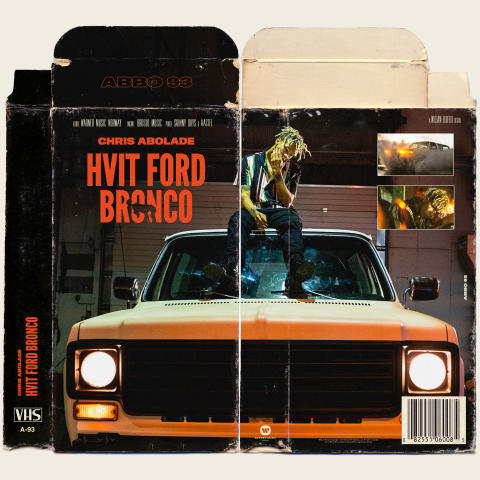 Hvit Ford Bronco artwork