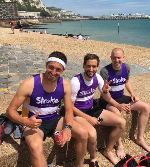 Brothers tackle 133 miles for the Stroke Association