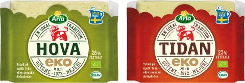 Arla lanserar nya ekologiska ostar för hela familjen
