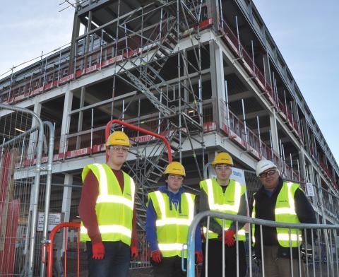 Elgin High trio help build their future