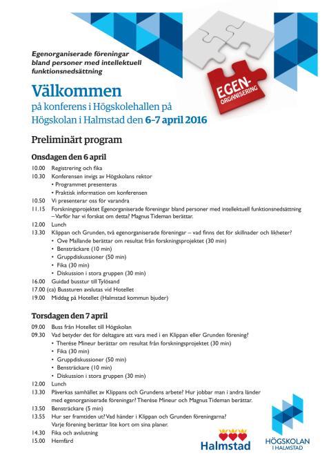 Program för konferens 7–8 april