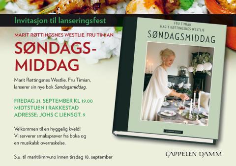 Invitasjon til lanseringsfest: Søndagsmiddag