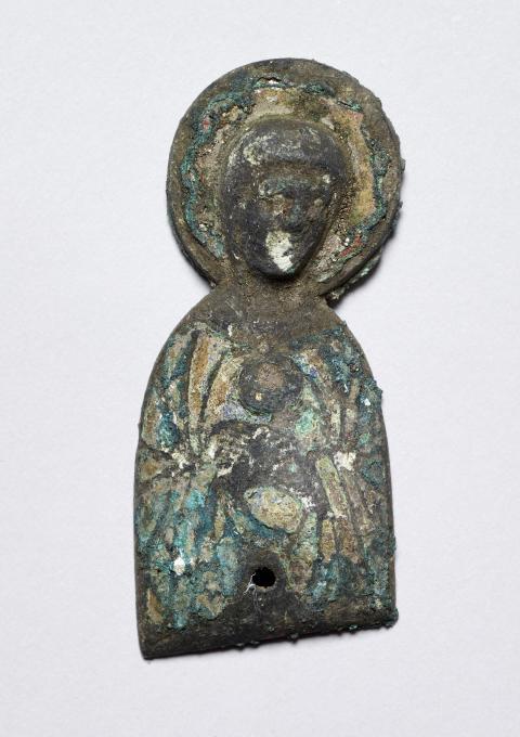 Jomfru Maria-figur fra Søby Kirke (set forfra før konservering)