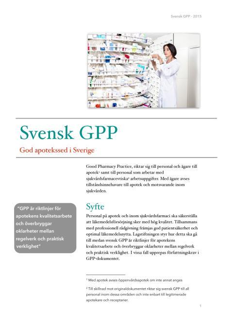 God apotekssed i Sverige - 2015
