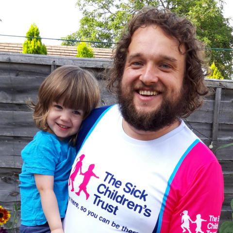 Ossett dad laces up trainers for charity that kept him by son's hospital bedside