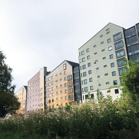 Vallen Norra 1, nominerad till byggnadspriset 2019.