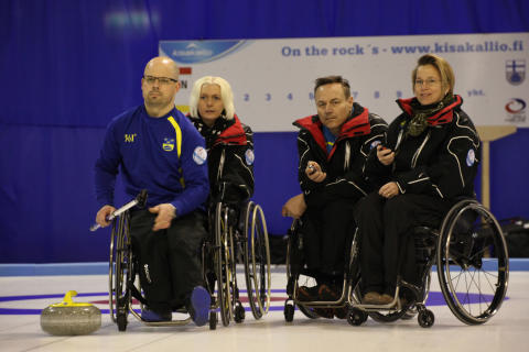 Curling: B-VM Rullstolscurling inleds idag i Lojo, Finland