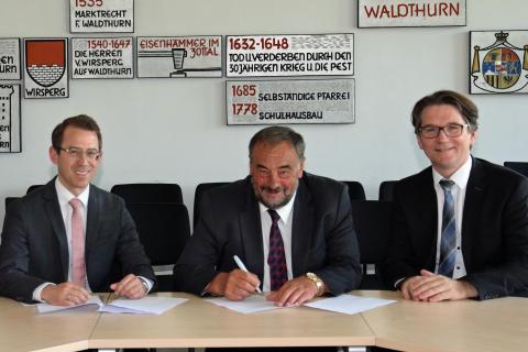 Konzessionsunterzeichung Waldthurn