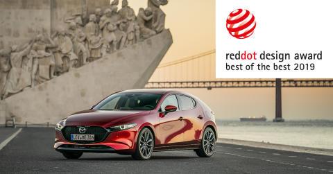 Helt nye Mazda3 vinner Red Dot Design Award