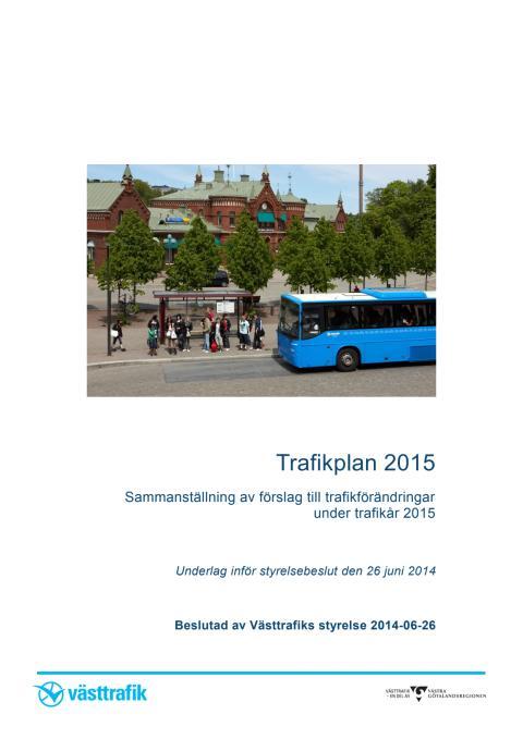 Trafikplan 2015 dokument