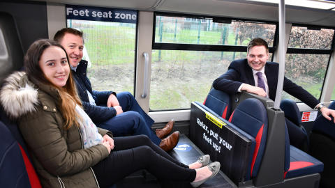Go North East tackles feet on seats with a quirky new solution