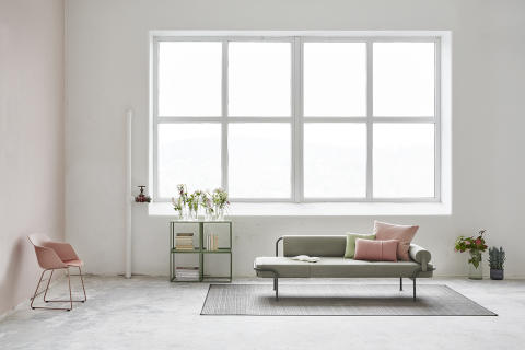 MATERIA Today day bed, Pax chair, Couture table interior