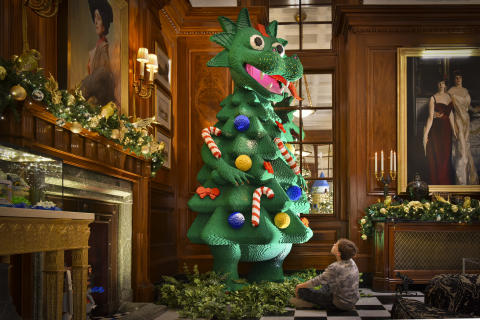 """LEGO """"The Twelve Rebuilds of Christmas"""" at The Savoy London"""
