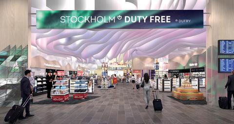 Entré Dufry taxfreebutiker på Arlanda
