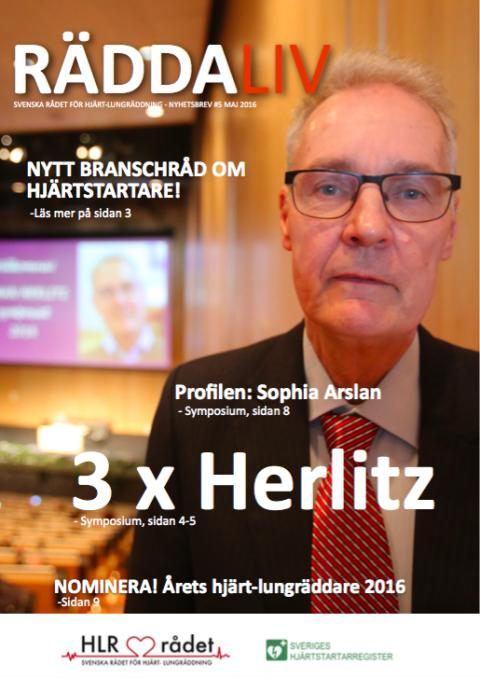 Svenska HLR rådets nyhetsbrev Maj 2016