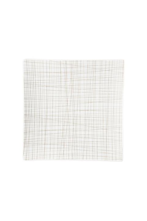 R_Mesh_Line Walnut_Plate 27 cm square flat