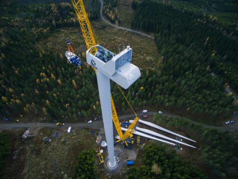 Veidekke bygger fundament och infrastruktur för vindkraftspark i Sundsvall